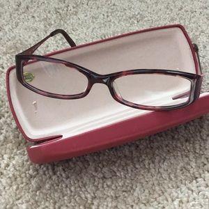Reddish-Burgandy Eyeglasses NWOT